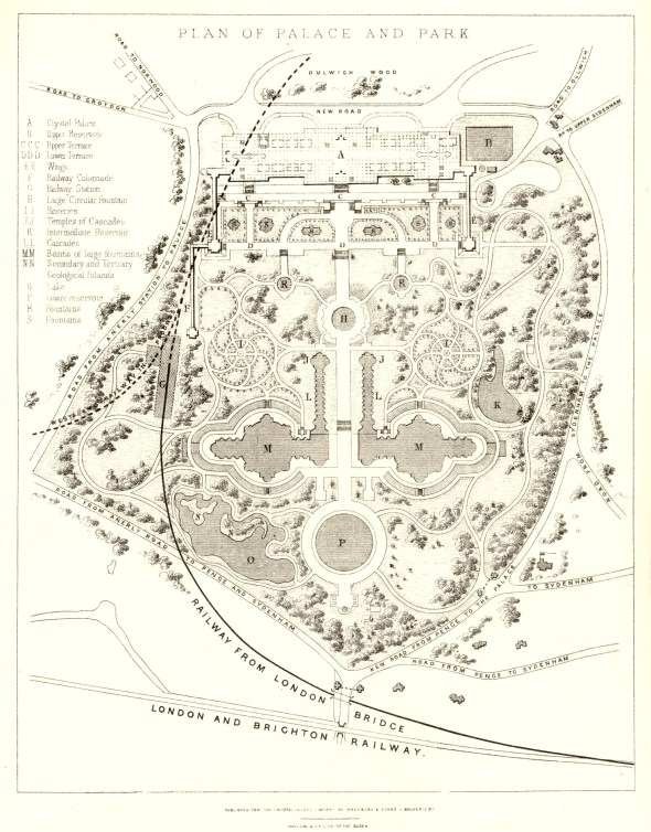 Crystal Palace Park has had an important part in local history, as this plan from 1857 when it was first laid-out  demonstrates