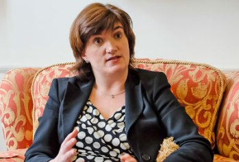 Carpet rites: Nicky Morgan, an education secretary who many are beginning to worry is even more dogmatic than the much-loathed Michael Gove