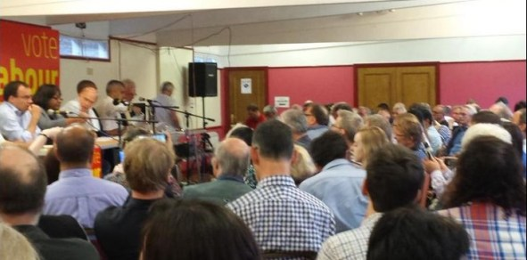 Ruskin House's Labour Mayoral husstings on Monday night. With no Tessa Jowell