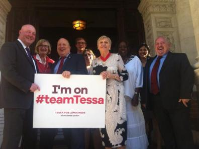 "Tony Newman, on ""#teamTessa"", and some of his Town Hall top team."