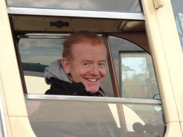TV presenter Chris Evans will be driving a vintage bus in tomorrow's London to Brighton Rally. But he won't be stopping for a cuppa in Croydon