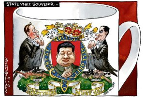 "China mugs: How The Times cartoonist Peter Brookes portrayed Britain's ""golden era"" relationship with China"