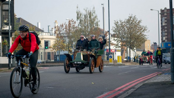 The vintage cars need to negotiate fully open roads, with suburban Sunday traffic. Photo copyright Lee Townsend