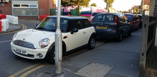 This was how some people parked on Albert Road when the Oasis Academy staged its first open evening. Residents fear the problem will get worse as the school takes in ever more pupils