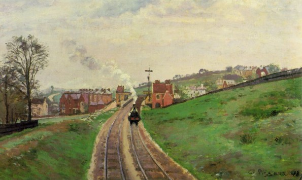 Camille Pissarro's painting of Lordship Lane station from 1871