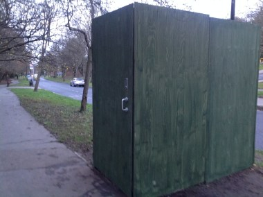 Taking the piss: the Bog in the Box is not very popular with local residents