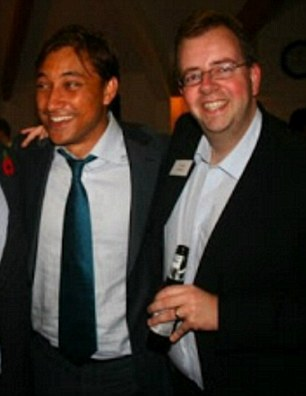 Mark Clarke and Donal Blaney Copyright:- Unknown ***INTERNET IMAGE TAKEN FROM politicalscrapbook.net***