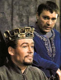 Peter O'Toole and, right, Richard Burton. Neither was available for the Selsdon production of Becket