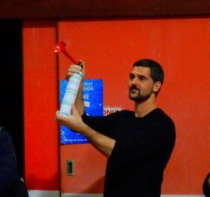 Palace keeper Julian Speroni gets the 2016 Purley Swimathon underway