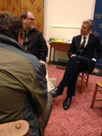 Stephen Aselford and DPAC protestors get their private audience with Zac Goldsmith last night
