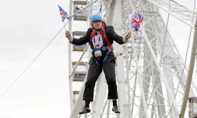 Boris Johnson in full-on blundering buffoon mode in 2012: his PR overcame any examination of his record