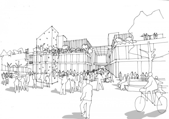 Spacehub Croydon Westfield sketch