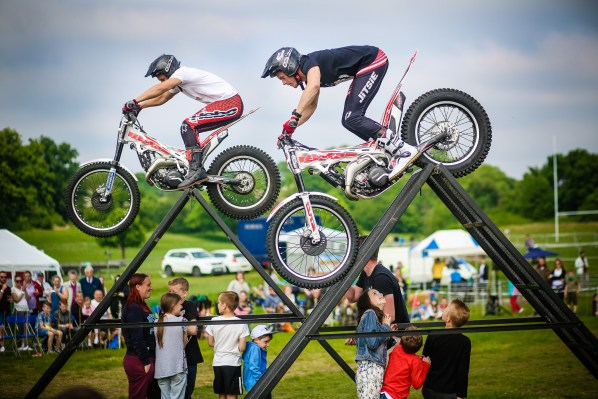 The Stunt Monkeys did their breath-taking motorbike displays throughout both days. Photograph by Lee Townsend