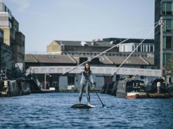 Paddle power: Carr recorded 1,200 instance of plastic pollution on her journey