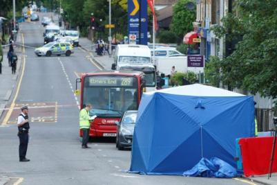 The scene in Selhurst after the accident a fortnight ago which claimed the life of young cyclist Magda . There have been three life-threatening accidents involving cyclists in Croydon in the past three weeks