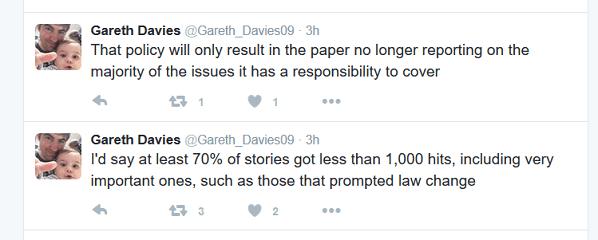 Davies tweet 1 Advertiser