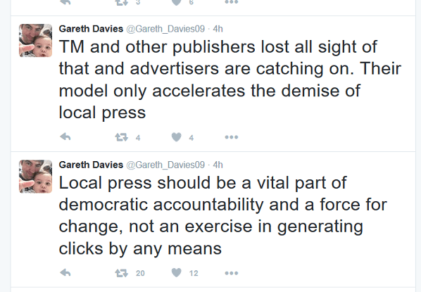 Davies tweet