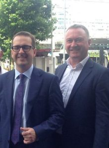 Owen Smith on his unannounced visit to central Croydon yesterday with Steve Reed OBE
