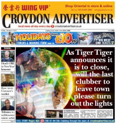 Will the last journalist left please turn out the lights: one of Davies's front page stories
