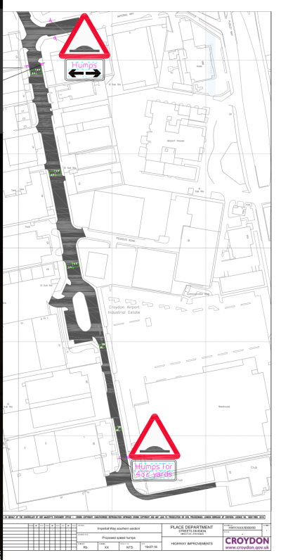 Part of the council's plans distributed with its Imperial Way consultation this week