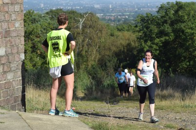 Great views into central London on the Switchback 5 course. Not that the runners have time to look