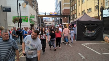 Police estimated around 3,000 people attended Pridefest in Surrey Street last Sunday. How many will turn up for artisan bread and gentrified tat this Sunday?