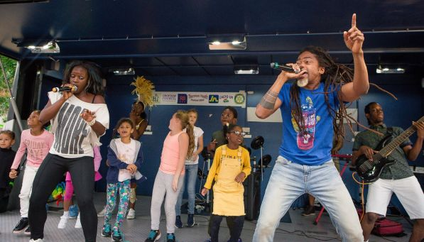 The stage show included opportunities for the whole community, young and old, to perform for their neighbours, friends and families. Photo: Lee Townsend