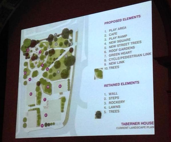 How the plans for Queen's Gardens were presented to last week's council meeting
