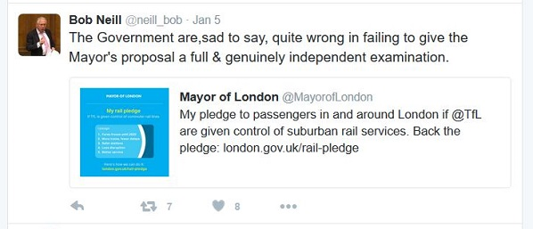 While Croydon Tories were data-scraping and misleading, Bob Neill was standing up for commuters