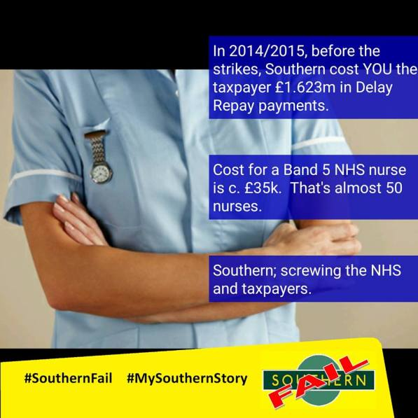 Commuter groups have been running a very effective campaign over Southern Fail