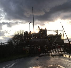 Under a cloud: the construction of the incinerator at Beddington Lane continues, promising fat profits for operators Viridor at public expense