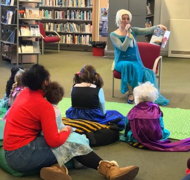 Regular activities, such as children's book-reading sessions, are being moved to a church hall and local pub while Upper Norwood Library is closed, for at least three months