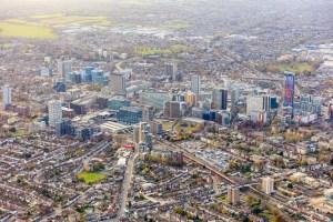 Croydon town centre aerial view 2019