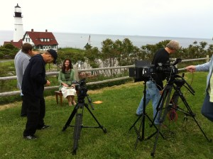 """EWTN Series Host Susan Conroy on the """"set"""" of her new series, """"Coming to Christ,"""" which airs this fall on EWTN!"""