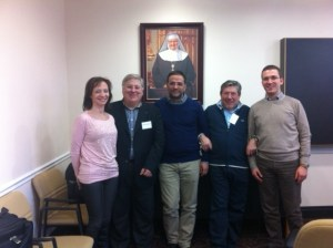 Some of the members of the Padre Pio TV team who traveled from San Giovanni Rotondo to EWTN's headquarters in Alabama!