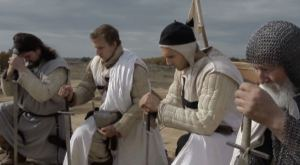 "Christian Crusaders pray before battle in this scene from EWTN's new four-part docu-drama, ""The Crusades."" Airs 10 p.m. ET from Wednesday, Oct. 8 through Saturday, Oct. 11 on EWTN, www.ewtn.com/channelfinder."