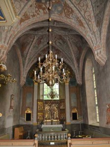 Sweden Njutanger, Halsingland entire altar