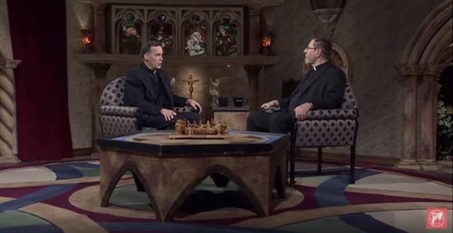 Fr Haggerty and Fr Mitch on set