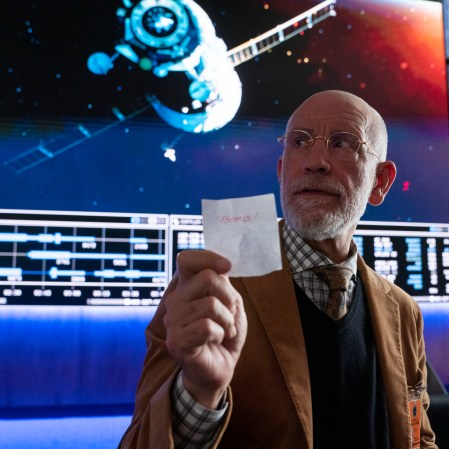 """John Malkovich as Dr. Adrian Mallory in """"Space Force."""" (Photo courtesy of Netflix)"""
