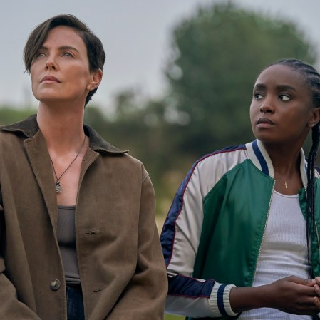 "Charlize Theron as Andy and Kiki Layne as Nile n ""The Old Guard."" (Photo courtesy of Netflix)"