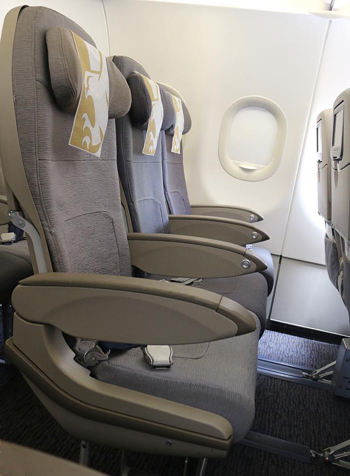 Gulf Air A320-200 Seat Row