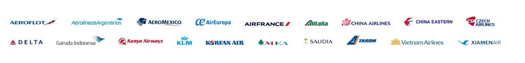 SkyTeam currently has 19 member airlines (Source: SkyTeam)