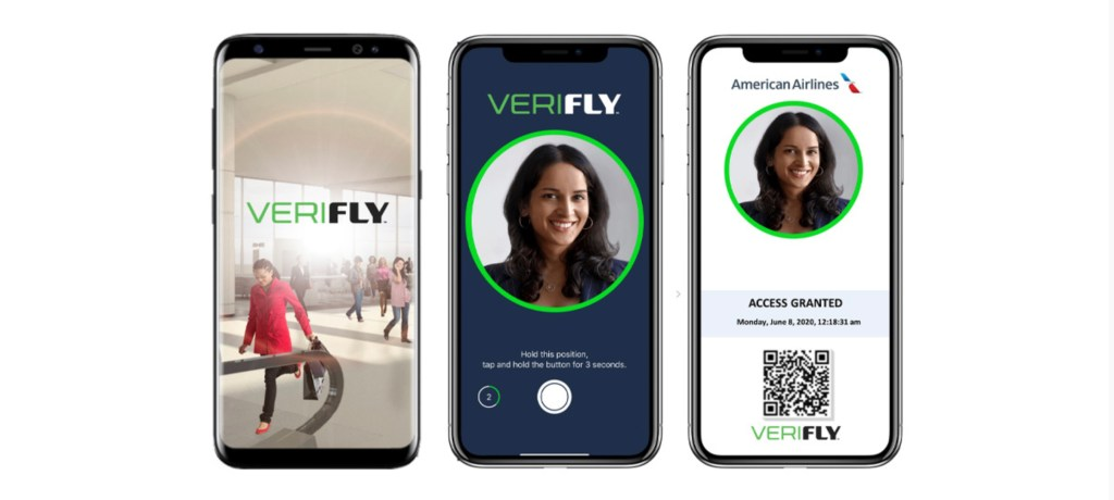 This is the new VeriFLY COVID app developed by Daon and American Airlines (Source: American Airlines)