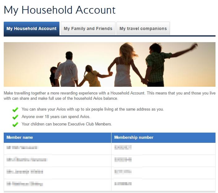 BA household accounts