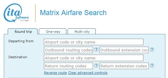 Matrix - ITA Software by Google overzicht