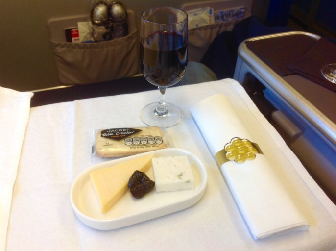 Kaasplateau, dessert, klm, wbc