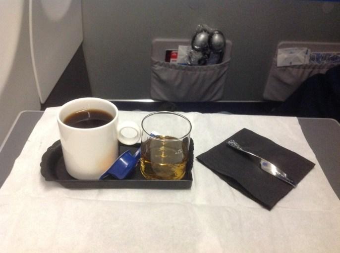 whisky, koffie, klm