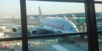 a380, qatar airways, doha