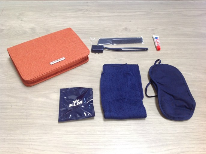 amenity kit, klm, business class, limited edition