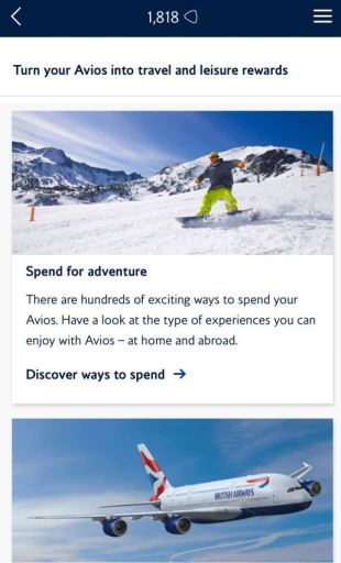 Nieuwe Reward App bij British Airways